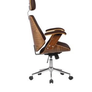 Cadeira de Escritório Presidente Giratória Marrom