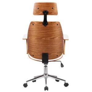 Cadeira de Escritório Presidente Giratória Branco