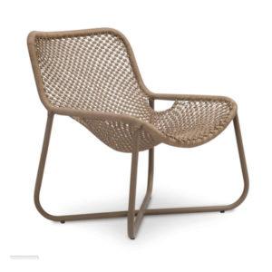 Cadeira macrame-cru