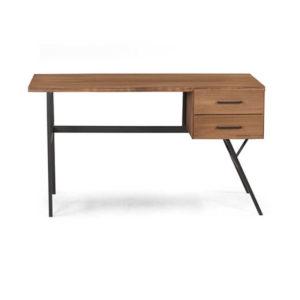 Escrivaninha de madeira e ferro estilo industrial