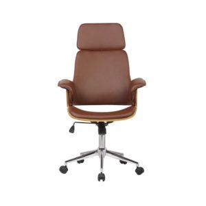 Cadeira de Escritório Giratória Marrom