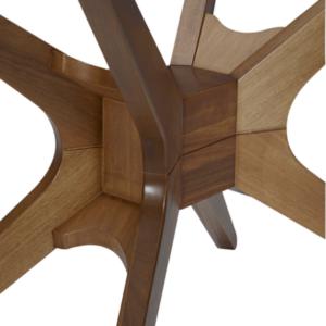 Mesa de Jantar base em madeira-Vidro TR
